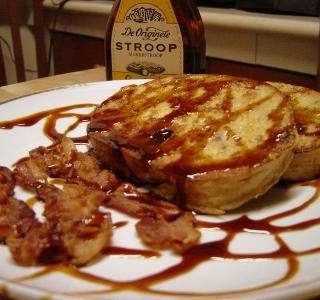 Breakfast # 4: Walnut French Toast with Bacon & Stroop