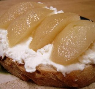 Breakfast # 5: Poached Pear & Ricotta Tartine