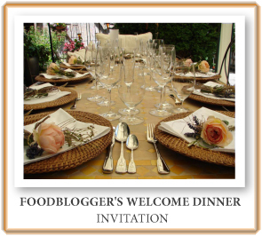 Food Blogger's Welcome Dinner