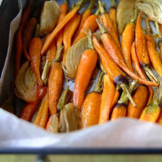 Honey Roasted Carrots & Fennel