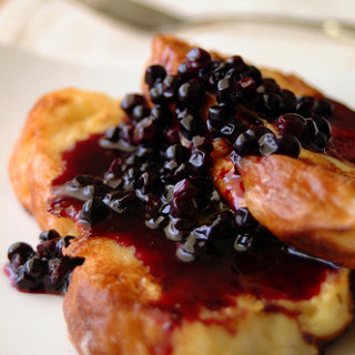 Breakfast #18: French Toast with Blueberry Syrup