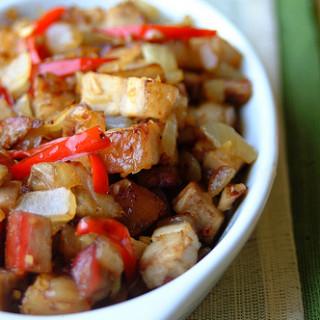 Roast Pork Belly Stir-fry