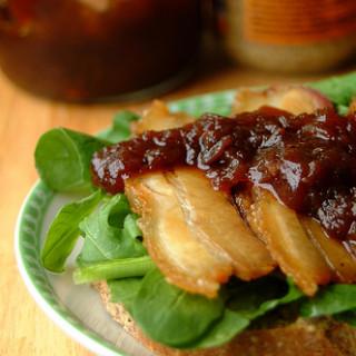 Roast Pork Belly Sandwich with Chutney
