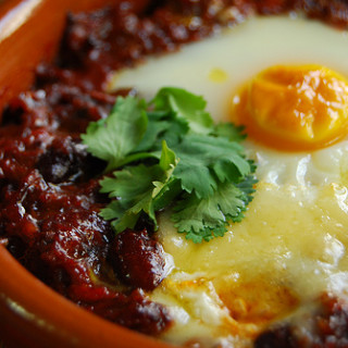 Baked Chili and Egg