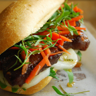 Red-cooked Pork Belly Banh Mi