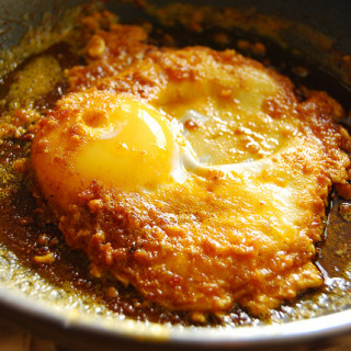 Breakfast #51: Fried Egg in Aligue (crab fat)