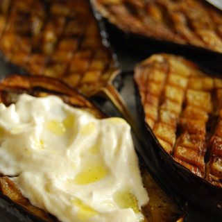 Roasted Eggplant with Garlic Cumin Yogurt