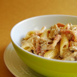 Creamy Mushroom & Bacon Pasta