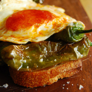 Breakfast #70: Pimiento de Padrón and Pimenton Egg on Toast