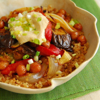 Harissa Roasted Vegetables with Quinoa