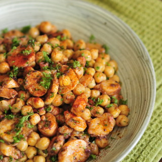 Octopus and Chickpea Salad (Pulpo y Garbanzos)
