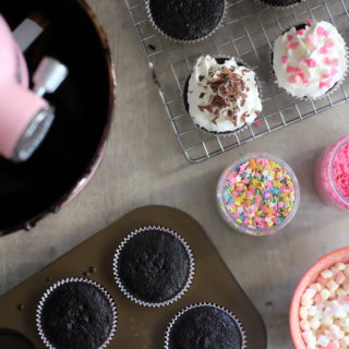One-Bowl Chocolate Cupcakes & the new KitchenAid Mini